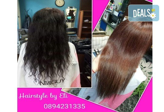 Кератинова терапия за възстановяване на косата с кератинова преса JOICO и подстригване по избор в Hairstyle by Elitsa! - Снимка 4