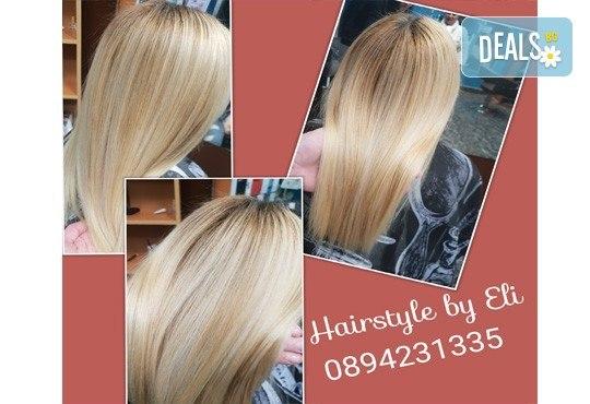 Кератинова терапия за възстановяване на косата с кератинова преса JOICO и подстригване по избор в Hairstyle by Elitsa! - Снимка 5