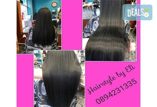 Кератинова терапия за възстановяване на косата с кератинова преса JOICO и подстригване по избор в Hairstyle by Elitsa! - Снимка 6