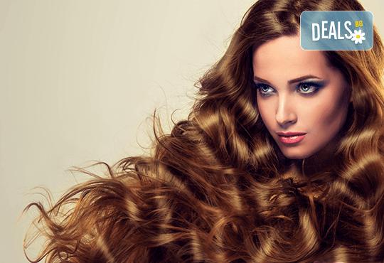 Консултация със специалист и терапия против омазняване на косата + трайно къдрене по желание и оформяне на прическа във фризьоро-козметичен салон Вили! - Снимка 2