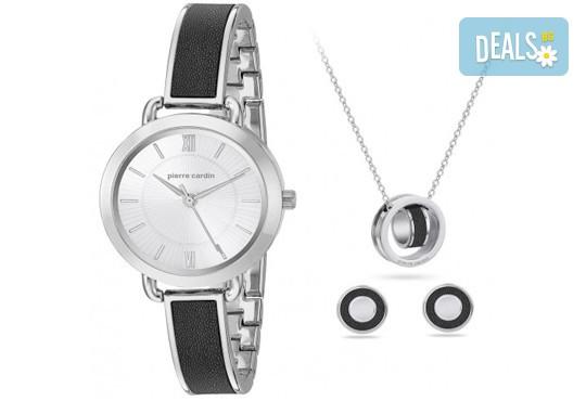 Вземете стилен комплект часовник, колие и чифт обеци на Pierre Cardin + безплатна доставка! - Снимка 1