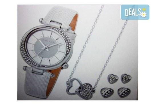 Подарете стилен комплект часовник, колие и 2 чифта обеци на Pierre Cardin + безплатна доставка! - Снимка 1