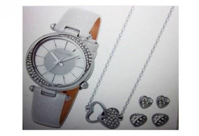 Подарете стилен комплект часовник, колие и 2 чифта обеци на Pierre Cardin + безплатна доставка! - Снимка