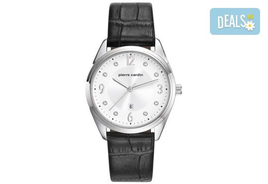Стилен часовник на Pierre Cardin с кристални индекси + безплатна доставка! - Снимка 1