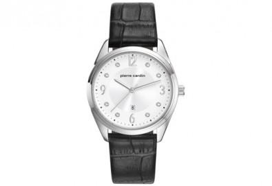 Стилен часовник на Pierre Cardin с кристални индекси + безплатна доставка! - Снимка
