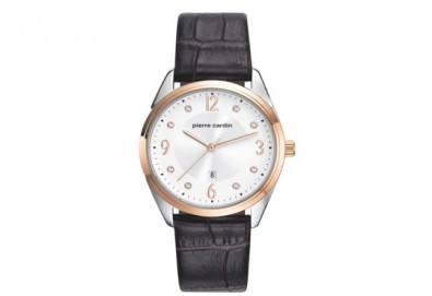 Елегантен дамски часовник Pierre Cardin със златисти и сребристи елементи + безплатна доставка! - Снимка