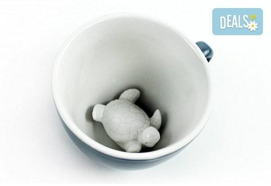 Вземете синя керамична чаша с костенурка и зарадвайте близък човек с повод или без! - Снимка 2