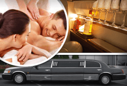 "Подарете SPA пакет ""San Remo""! Трансфер с лимузина ""Lincoln"" до Senses Massage & Recreation, синхронен масаж за двама, релакс зона, сауна, уиски и бадеми от San Diego Limousines! - Снимка"
