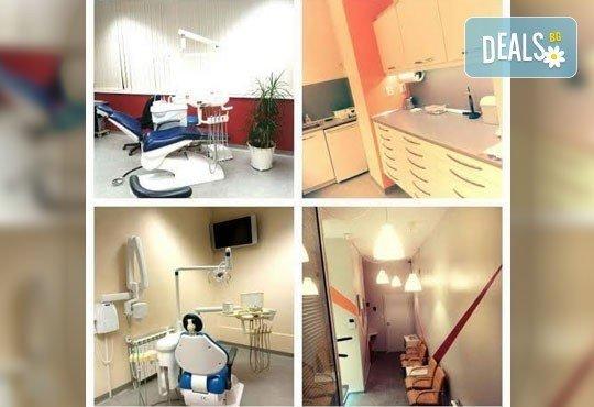 Пакетна услуга за възрастни за намаляване на чувствителността на зъбите и превенция от развитие на кариес - обстоен преглед, нанасяне на защитен флуориден лак за защита на емайла и почистване на зъбен камък от Персенк! - Снимка 4