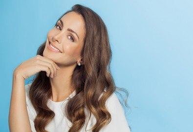 Консултация със специалист за определяне на скалпа и типа коса, терапия според нуждите й, масажно измиване и изсушаване във фризьоро-козметичен салон Вили! - Снимка