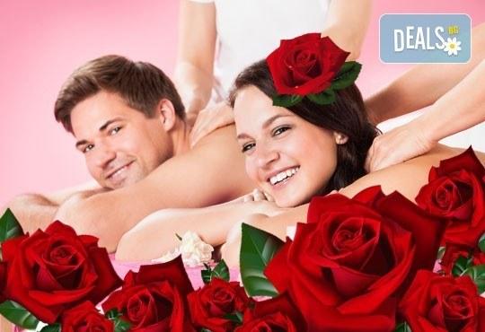За двама! Луксозен арома масаж за двама с цвят от рози в Спа център Senses Massage & Recreation! - Снимка 1