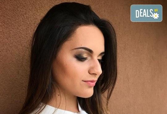 Професионален грим за сватби, официални събития и специални поводи с козметика на MAC, NYX, Inglot и др. от гримьор Елица Толева в Benefit Hair Studio by Tatiana! - Снимка 3