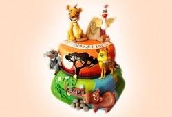 Смърфове, Миньони и Мечо Пух! Голяма детска 3D торта 37 ПАРЧЕТА с фигурална ръчно изработена декорация от Сладкарница Джорджо Джани - Снимка