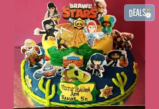 Смърфове, Миньони и Мечо Пух! Голяма детска 3D торта 37 ПАРЧЕТА с фигурална ръчно изработена декорация от Сладкарница Джорджо Джани - Снимка 1