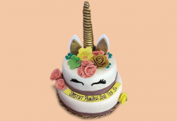 За принцеси! Торта с 3D дизайн с еднорог или друг приказен герой от сладкарница Джорджо Джани! - Снимка