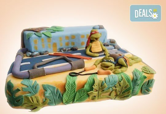 25 парчета! Голяма детска 3D торта с фигурална ръчно изработена декорация от Сладкарница Джорджо Джани - Снимка 1