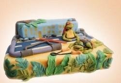 25 парчета! Голяма детска 3D торта с фигурална ръчно изработена декорация от Сладкарница Джорджо Джани - Снимка