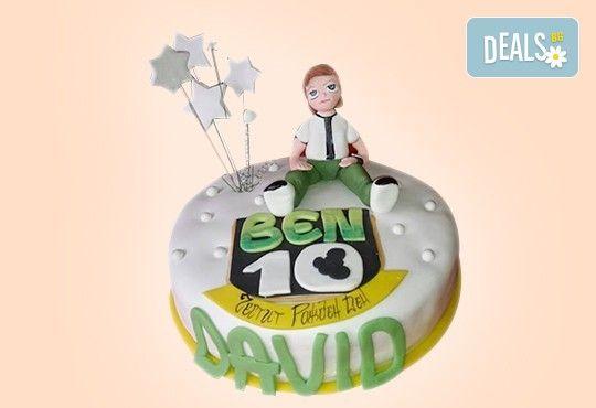 За момчета! Детска 3D торта за момчета с коли и герои от филмчета с ръчно моделирана декорация от Сладкарница Джорджо Джани - Снимка 4