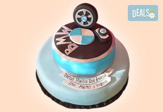 С доставка през април, май и юни! За момчета: детска 3D торта за момчета с коли и герои от филмчета с ръчно моделирана декорация от Сладкарница Джорджо Джани - Снимка 58
