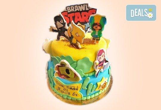 С доставка през април, май и юни! За момчета: детска 3D торта за момчета с коли и герои от филмчета с ръчно моделирана декорация от Сладкарница Джорджо Джани - Снимка 2