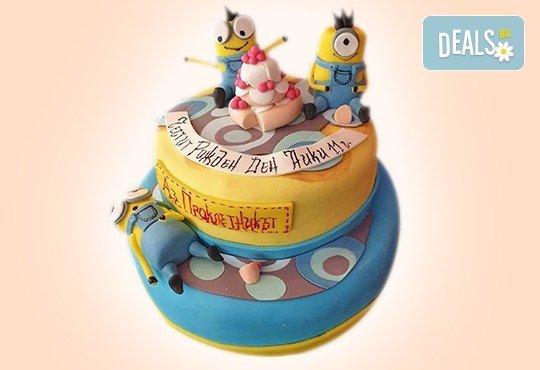 С доставка през април, май и юни! За момчета: детска 3D торта за момчета с коли и герои от филмчета с ръчно моделирана декорация от Сладкарница Джорджо Джани - Снимка 60