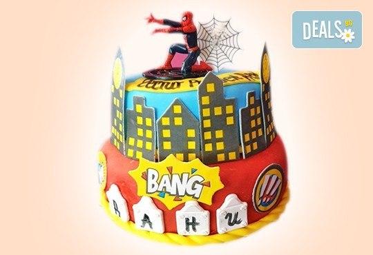 С доставка през април, май и юни! За момчета: детска 3D торта за момчета с коли и герои от филмчета с ръчно моделирана декорация от Сладкарница Джорджо Джани - Снимка 3