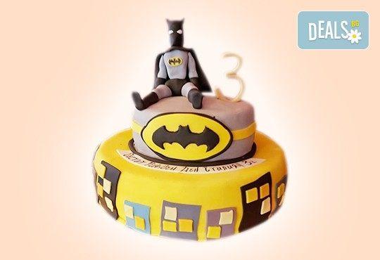 С доставка през април, май и юни! За момчета: детска 3D торта за момчета с коли и герои от филмчета с ръчно моделирана декорация от Сладкарница Джорджо Джани - Снимка 4