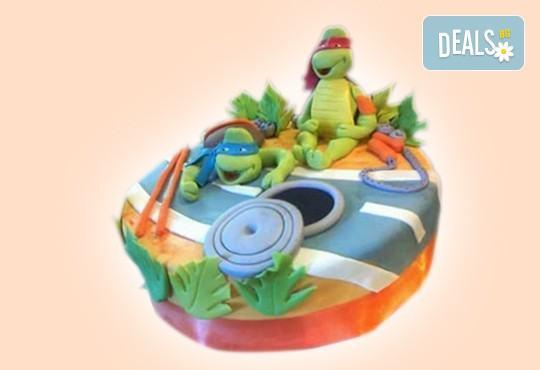 С доставка през април, май и юни! За момчета: детска 3D торта за момчета с коли и герои от филмчета с ръчно моделирана декорация от Сладкарница Джорджо Джани - Снимка 46