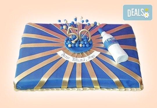 Празнична торта Честито кумство с пъстри цветя, дизайн сърце, романтични рози, влюбени гълъби или др. от Сладкарница Джорджо Джани - Снимка 41