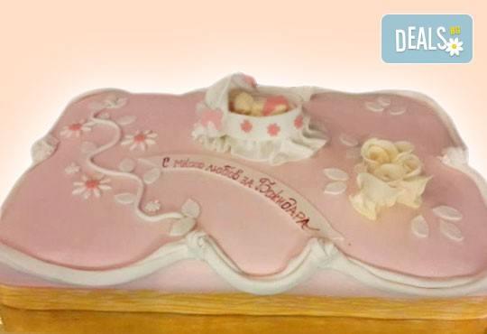 Честито бебе! Торта за изписване от родилния дом, за 1-ви рожден ден или за прощъпулник, специална оферта на Сладкарница Джорджо Джани - Снимка 23
