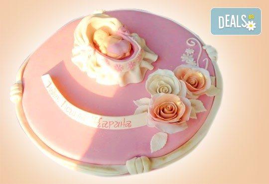 Честито бебе! Торта за изписване от родилния дом, за 1-ви рожден ден или за прощъпулник! Специална оферта на Сладкарница Джорджо Джани! - Снимка 25