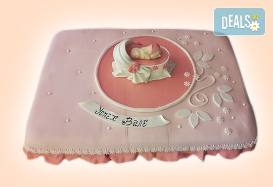 С доставка през април, май и юни! Честито бебе: торта за изписване от родилния дом, за 1-ви рожден ден или за прощъпулник, специална оферта на Сладкарница Джорджо Джани - Снимка 22