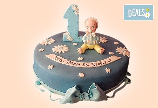 С доставка през април, май и юни! Честито бебе: торта за изписване от родилния дом, за 1-ви рожден ден или за прощъпулник, специална оферта на Сладкарница Джорджо Джани - Снимка 4