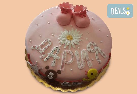 С доставка през април, май и юни! Честито бебе: торта за изписване от родилния дом, за 1-ви рожден ден или за прощъпулник, специална оферта на Сладкарница Джорджо Джани - Снимка 17
