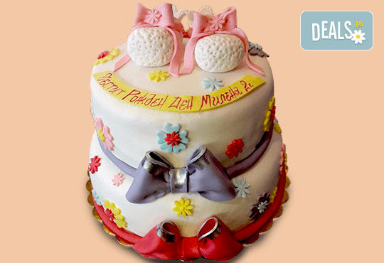 Честито бебе! Торта за изписване от родилния дом, за 1-ви рожден ден или за прощъпулник, специална оферта на Сладкарница Джорджо Джани - Снимка 18