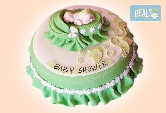С доставка през април, май и юни! Честито бебе: торта за изписване от родилния дом, за 1-ви рожден ден или за прощъпулник, специална оферта на Сладкарница Джорджо Джани - Снимка 13