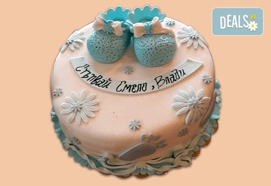 С доставка през април, май и юни! Честито бебе: торта за изписване от родилния дом, за 1-ви рожден ден или за прощъпулник, специална оферта на Сладкарница Джорджо Джани - Снимка 11
