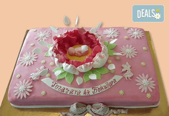 С доставка през април, май и юни! Честито бебе: торта за изписване от родилния дом, за 1-ви рожден ден или за прощъпулник, специална оферта на Сладкарница Джорджо Джани - Снимка 24
