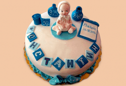С доставка през април, май и юни! Честито бебе: торта за изписване от родилния дом, за 1-ви рожден ден или за прощъпулник, специална оферта на Сладкарница Джорджо Джани - Снимка