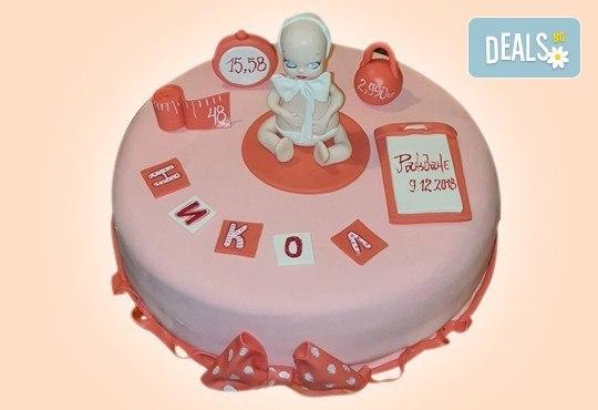 Честито бебе! Торта за изписване от родилния дом, за 1-ви рожден ден или за прощъпулник! Специална оферта на Сладкарница Джорджо Джани! - Снимка 7