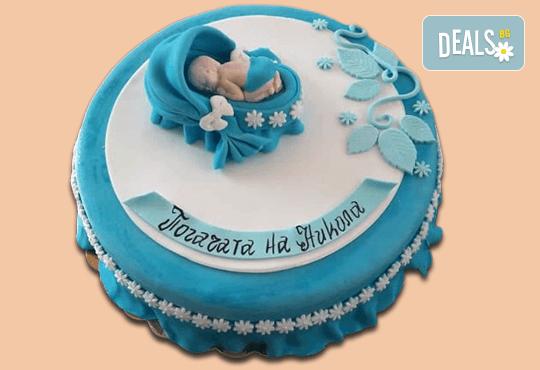 С доставка през април, май и юни! Честито бебе: торта за изписване от родилния дом, за 1-ви рожден ден или за прощъпулник, специална оферта на Сладкарница Джорджо Джани - Снимка 7