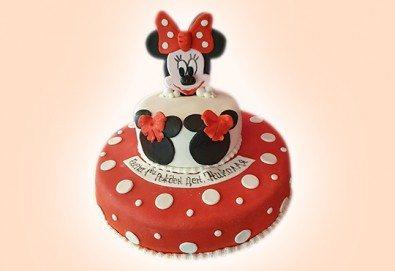 С доставка през април, май и юни! За най-малките: детска торта с Мечо Пух, Смърфовете, Спондж Боб и други герои от Сладкарница Джорджо Джани - Снимка