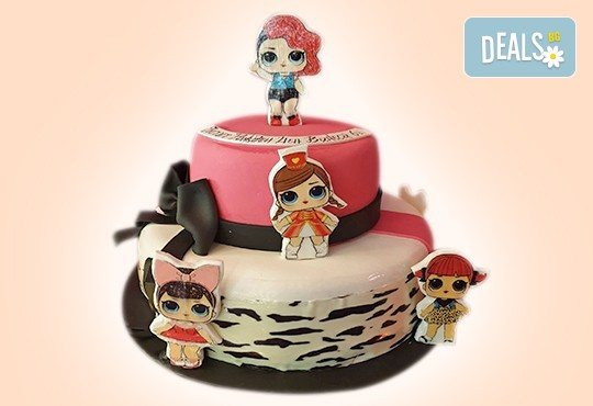 За най-малките! Детска торта с Мечо Пух, Смърфовете, Спондж Боб и други герои от Сладкарница Джорджо Джани - Снимка 1