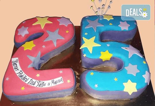Цифри! Изкушаващо вкусна бутикова АРТ торта с цифри и размер по избор от Сладкарница Джорджо Джани - Снимка 4