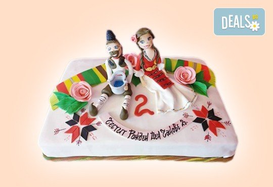 Голяма 3D Торта на традициите за почитателите на българския фолклор, 25 парчета от Сладкарница Джорджо Джани! - Снимка 1