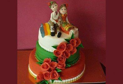 Голяма 3D Торта на традициите за почитателите на българския фолклор, 25 парчета от Сладкарница Джорджо Джани! - Снимка