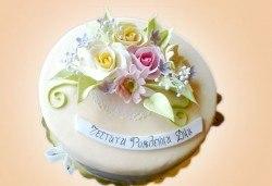 Цветя! Празнична 3D торта с пъстри цветя, дизайн на Сладкарница Джорджо Джани - Снимка