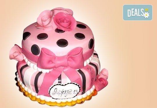 Цветя! Празнична 3D торта с пъстри цветя, дизайн на Сладкарница Джорджо Джани - Снимка 7