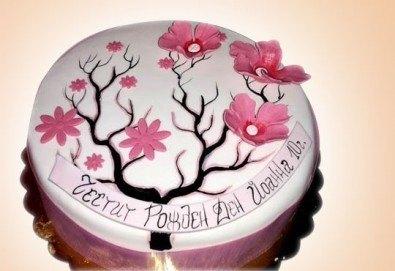 Цветя! Празнична 3D торта с пъстри цветя, дизайн на Сладкарница Джорджо Джани