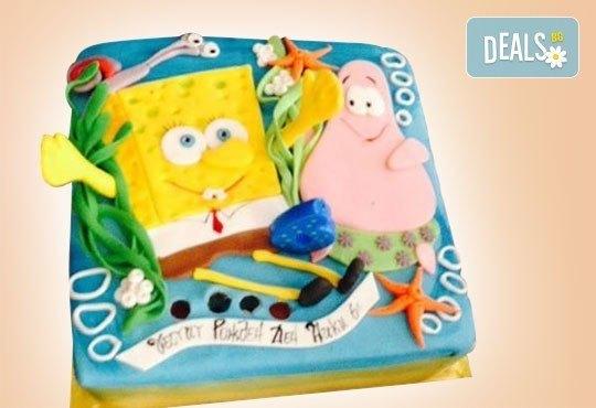 С доставка през април, май и юни! Детска АРТ торта с фигурална ръчно изработена декорация с любими на децата герои от Сладкарница Джорджо Джани - Снимка 61